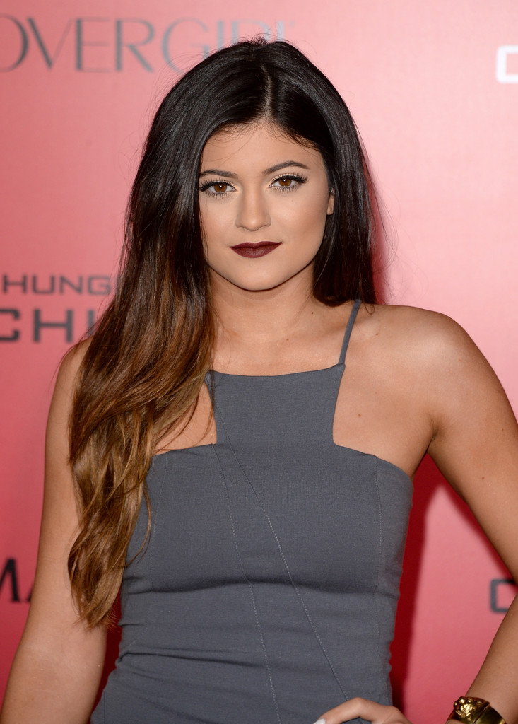 Kylie Jenner Arrives On The Red Carpet At Our Balmain X H: Kylie Jenner Ombre Hair