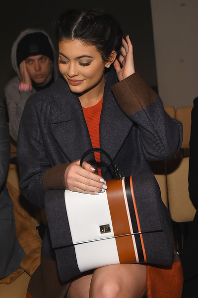Kylie Jenner Single Strap Tote [shows,boss womenswear fall 2016,the shows,fashion,shoulder,fashion accessory,kylie jenner,boss womenswear,front row,new york city,new york fashion week,fashion show]