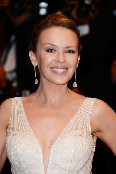 Kylie Minogue Bobby Pinned Updo