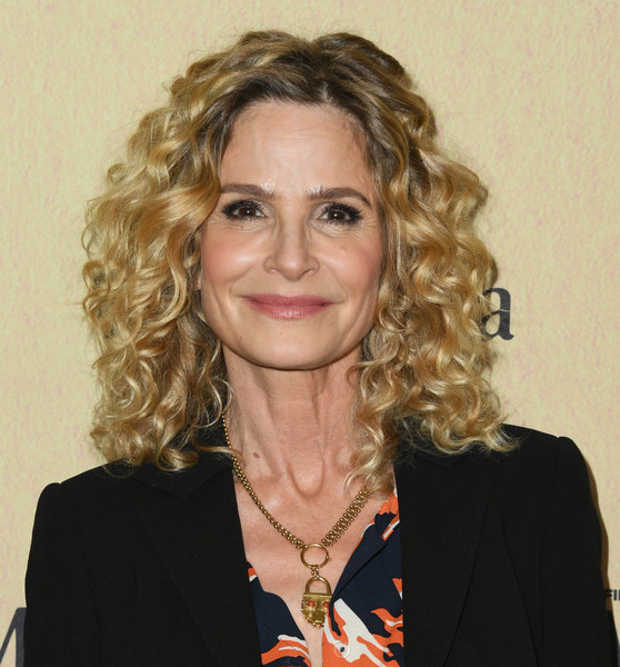 Kyra Sedgwick Medium Curls [women in film annual gala 2019,arrivals,kyra sedgwick,hair,face,hairstyle,blond,chin,eyebrow,lady,long hair,forehead,ringlet,beverly hills,california,the beverly hilton hotel,max mara]