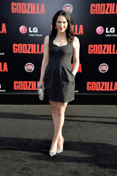 Kyra Zagorsky Little Black Dress [godzilla,warner bros. pictures and legendary pictures,clothing,dress,premiere,little black dress,cocktail dress,fashion,leg,fashion model,carpet,flooring,arrivals,kyra zagorsky,california,hollywood,warner bros. pictures,legendary pictures,premiere,premiere]