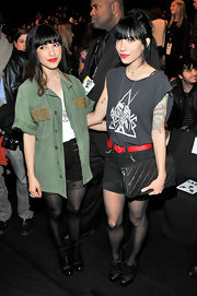 Lisa Origliasso wore a pair of ankle booties at the L.A.M.B. fashion show.