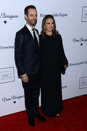 Natalie Portman kept it understated in a long-sleeve black gown by The Row at the L.A. Dance Project's annual gala.