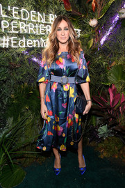 Sarah Jessica Parker made a sweet statement with this floral off-the-shoulder frock at the L'Eden by Perrier-Jouet opening.