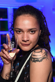Sasha Lane attended the L'Eden by Perrier-Jouet opening wearing her signature dreadlocks.