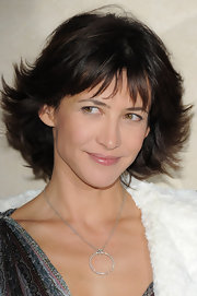 Sophie Marceau's curled out bob was a sassy-sweet hairstyle.