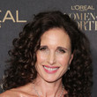 Andie MacDowell's Shoulder-Length Curls
