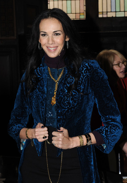 More Pics of L'Wren Scott Long Center Part (1 of 6) - L'Wren Scott Lookbook - StyleBistro