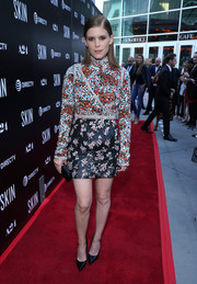 Kate Mara went for a beaded, mixed-pattern mini dress by Giambattista Valli Couture at the LA special screening of 'Skin.'