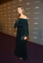Karlie Kloss gave her shimmery 2012 LACMA Art + Film Gala gown an extra dose of shine with this clutch.