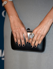 Black nail polish added an edgy twist.