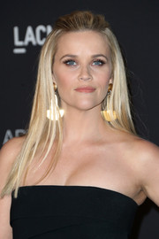 Reese Witherspoon looked gorgeous even with this simple half-up style at the LACMA Art + Film Gala.
