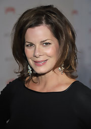 Marcia Gay Harden wore her layered cut a little messy at the LACMA Art and Film Gala.