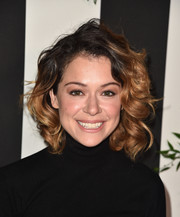 Tatiana Maslany looked oh-so-cute with her curly bob at the Land of Distraction launch.