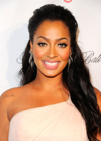 La La Anthony Lettering Tattoo [angel foundation,angel ball to benefit gabrielle,hair,eyebrow,hairstyle,face,lip,black hair,shoulder,long hair,skin,beauty,new york city,cipriani wall street,la la anthony]