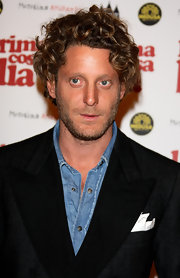 Lapo Elkann sported boyish curls at the premiere of 'La Prima Cosa Bella.'