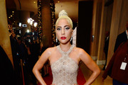 Lady Gaga Halter Dress