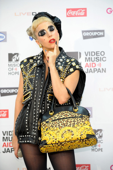 Lady Gaga Leather Tote