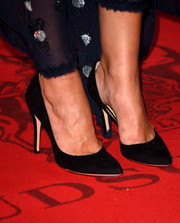 Keira Knightley chose simple black pumps for the premiere of 'Laggies' at the 2014 Toronto International Film Festival.