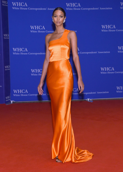 Lais Ribeiro One Shoulder Dress