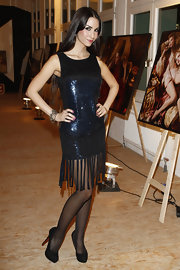 Sila Sahin's sequined flapper-style LBD was fun and fashionable at the same time.
