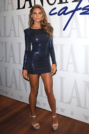 Nina sizzles in a midnight sequined mini dress at the Ciak party.