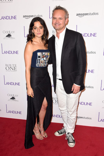 Jenny Slate looked fab in a strapless Roland Mouret gown with an embellished bodice and a crossover skirt at the New York premiere of 'Landline.'