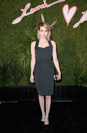Emma Roberts opted for simple elegance with this Lanvin LBD at the Evening of Fashion event.