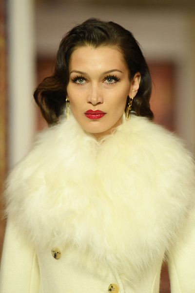 More Pics of Bella Hadid Evening Coat (1 of 5) - Bella Hadid Lookbook - StyleBistro [hair,lip,fur clothing,white,fur,face,lady,skin,clothing,beauty,bella hadid,runway - paris fashion week womenswear fall,part,runway,paris,france,lanvin,show,fashion,fashion show,supermodel,hair m,model,haute couture,photo shoot,fur,socialite,long hair]