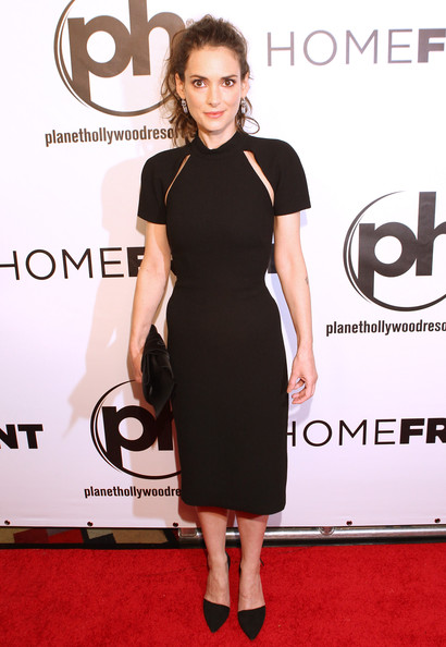 Winona Ryder chose a Cushnie et Ochs LBD with cutouts on the yoke for the premiere of 'Homefront.'