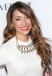 Fernanda Romero wore her long wavy hair down when she attended the Hollywood Hot List party.