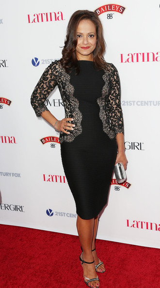Judy Reyes donned a sophisticated LBD with a lace-panel bodice for the Hollywood Hot List party.
