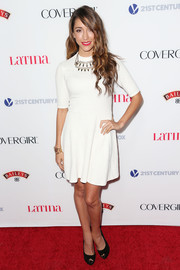 Fernanda Romero went for simplicity with this little white dress when she attended the Hollywood Hot List party.