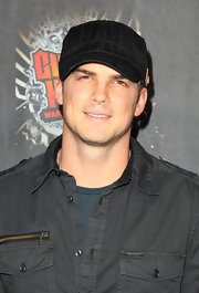 "Actor Rick Malambri kept things casual in a  black striped cap at the launch of Activision's ""Guitar Hero: Warriors Of Rock with Soundgarden"" event."