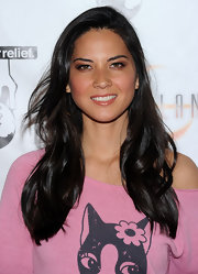 "Olivia Munn donned s simple wavy cut while attending the ""Lost Planet 2"" event in Hollywood, Ca."