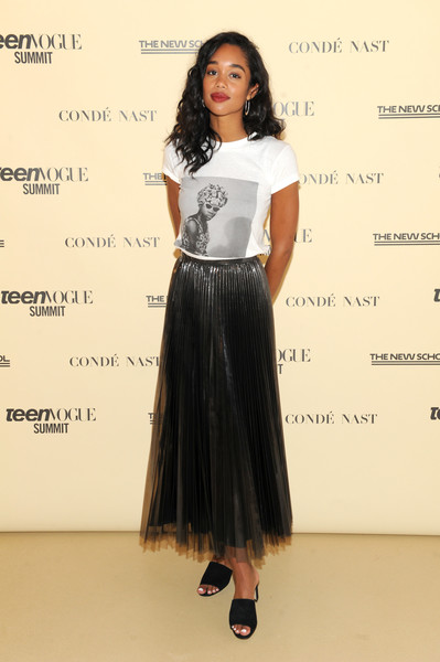 Laura Harrier Full Skirt