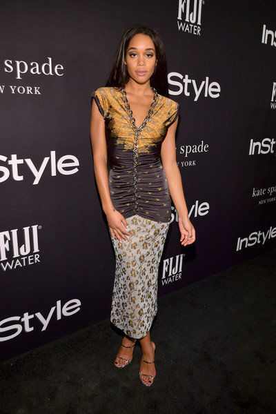 Laura Harrier Print Dress