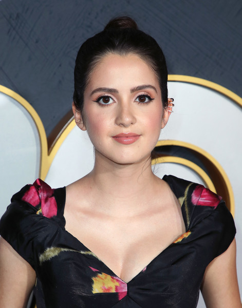 Laura Marano Classic Bun [hair,beauty,hairstyle,lip,chin,shoulder,photo shoot,black hair,photography,makeover,arrivals,laura marano,post emmy awards,the plaza,los angeles,california,pacific design center,hbo,reception,post emmy awards reception]
