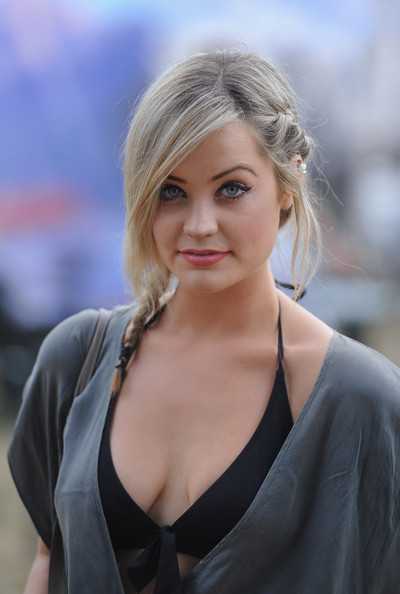 Laura Whitmore Long Braided Hairstyle