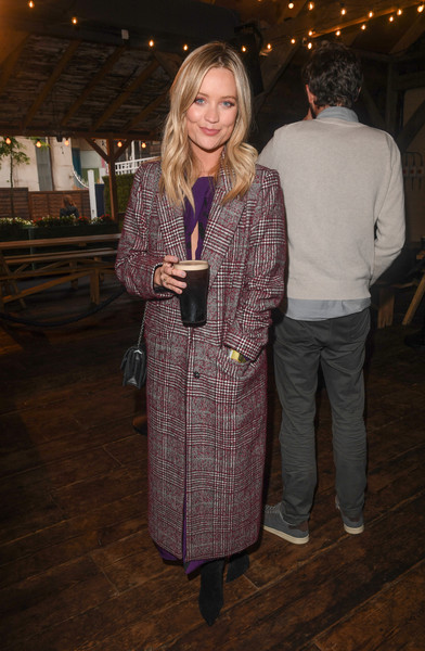 Laura Whitmore Printed Coat [film,documentary,clothing,fashion,outerwear,fun,event,textile,fashion design,long hair,laura whitmore,women,story,guinness presents liberty fields,liberty fields,guinness,team,launch]
