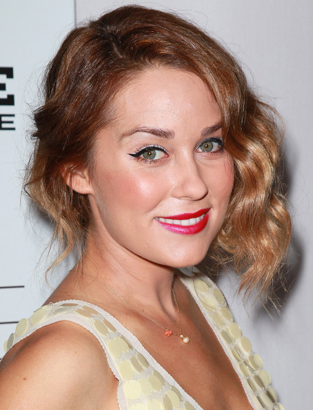 Lauren Conrad Bobby Pinned Updo [hair,face,hairstyle,eyebrow,lip,blond,chin,brown hair,beauty,long hair,arrivals,lauren conrad,the london hotel,west hollywood,california,party,autumn party]