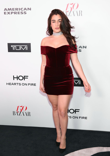 Lauren Jauregui Off-the-Shoulder Dress