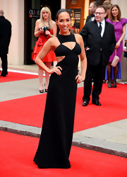 Myleene Klass chose this cutout dress for a super sexy red carpet look at the Laurence Olivier Awards.