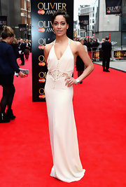 Cush Jumbo's nude gown looked so elegant and sleek on the red carpet.