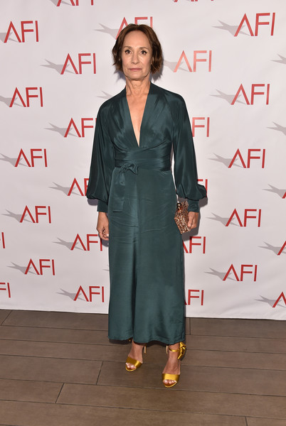 Laurie Metcalf Evening Sandals [clothing,carpet,red carpet,fashion,premiere,dress,flooring,suit,formal wear,event,arrivals,laurie metcalf,los angeles,four seasons hotel,california,beverly hills,afi awards]