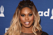Laverne Cox Long Partially Braided
