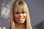 Laverne Cox Long Straight Cut with Bangs