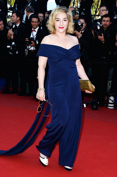 Marilou Berry's off-the-shoulder jumpsuit gave the star a fun and quirky red carpet look.