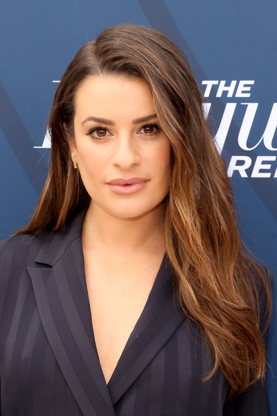Lea Michele Long Side Part [red carpet,hair,face,hairstyle,blond,eyebrow,long hair,layered hair,chin,brown hair,beauty,lea michele,actor,singer,hair,hair,hairstyle,television,hollywood reporter,empowerment in entertainment event,lea michele,glee,actor,68th golden globe awards,rachel berry,film,instyle,singer,television,places]
