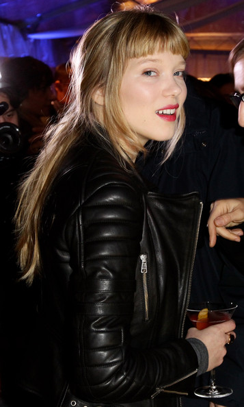 More Pics of Lea Seydoux Loose Ponytail (1 of 32) - Lea Seydoux Lookbook - StyleBistro [lea seydoux,hair,blond,leather jacket,jacket,hairstyle,leather,lady,textile,long hair,layered hair,grey goose christmas boutique,milan,italy,lea seydoux hosts grey goose]
